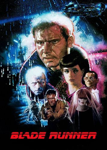 1980's Movie - BLADE RUNNER POSTER 1 canvas print - self adhesive poster - photo print